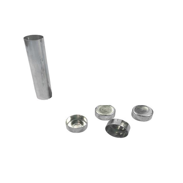 100 PCS New Dental Lab Aluminum Cartridge With Lip For Dental Lab Acrylic Denture Inject Acrylic Work Diameter 22mm Length120mm