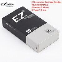 EZ Nouvelle Révolution Aiguille Cartouche 7.0mm Super Serré X-Taper Round Liner De Tatouage Aiguille 3RLT 5RLT 7RLT 9RLT 20 Pcs/boîte