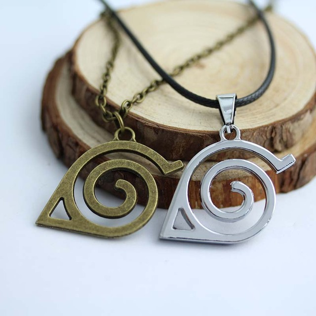 2 Colors Leaf Symbol Necklace Cosplay