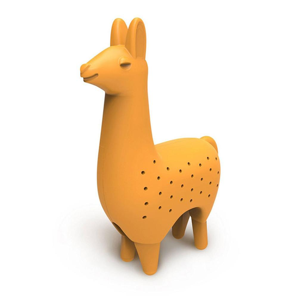 Llama Shape Silicone Tea Infuser Tea Strainer Filter Herb Spice Diffuser Reusable Halloween Drinkware Accessories(China)