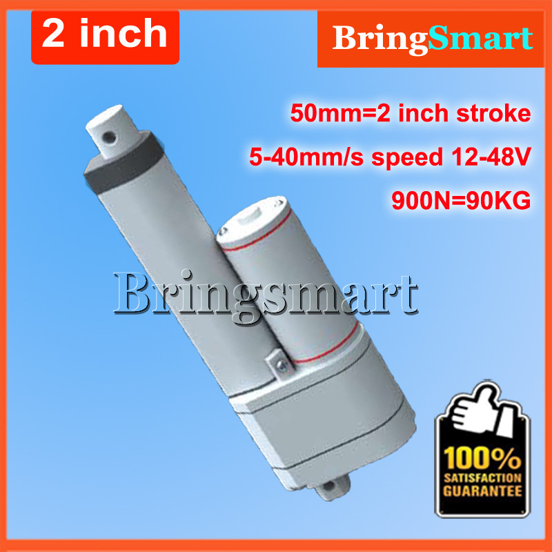 2Inch 50mm Stroke 12V DC Electric Linear Actuator With Potentiometer 5-40mm/s 90KG Load 12-48V 900N Tubular Electric Motor 24V wholesale 12v linear actuator 150mm 6 inch stroke 7000n 700kg load waterproof 36v tubular motor 48v mini electric actuator 24v