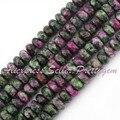 """5x8mm Rondelle Forma Corante Multicolor Zoisite Gem Stone Beads 15 """"Para DIY Colar Pulseira Fazer Jóias, Frete Grátis por atacado"""