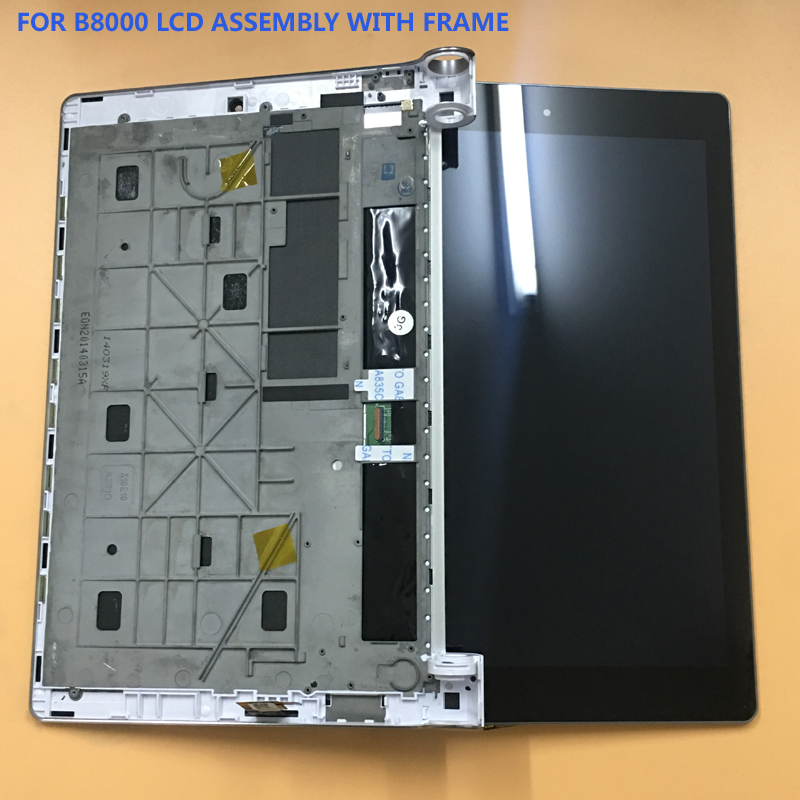 For Lenovo B8000 Yoga Tablet 10 60047 Black Touch Screen Digitizer Glass + LCD Display Panel Assembly Frame new 10 1 inch for lenovo yoga tablet 10 b8000 b8000 h full lcd display panel touch screen digitizer glass assembly with frame