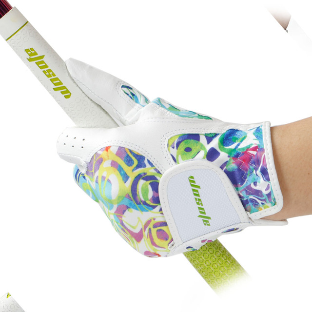 NEW Golf glove Sheepskin women's Gloves Left Right Hand  Breathable Phantom color golf glove golf accessories free shipping