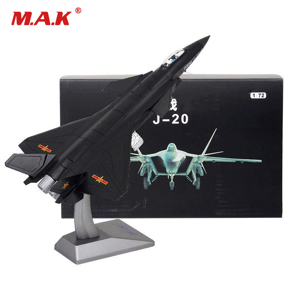 Collectible Model Toys 1/72 Fire Fang China Air Force Chengdu J-20 Aircraft Black Eagle Stealth Fighter for Children Kid Gift 31cm j 20 stealth fighter j20 model no 2002 plane model simulation model of 1 72 alloy china air force of the cpla