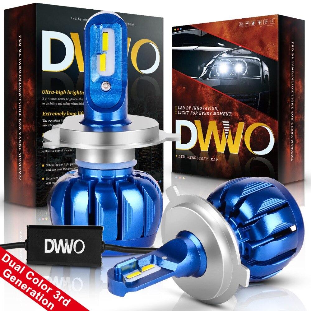 H4 Led Car Headlight Bulb Hi-lo Beam Auto Headlamp Led Headlights For Bmw/audi/vw/ford/toyota/honda 6000k And 3000k Dual Color Automobiles & Motorcycles Car Headlight Bulbs(led)