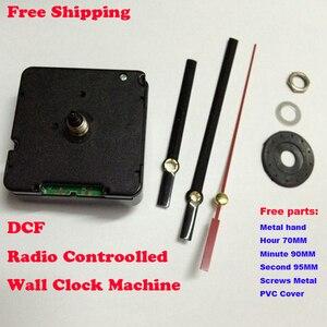 DCF77 analogowy zegar ścienny RCC sygnał odbiorczy ruchu przy 77.5kHz podwójny silnik sterowany kwarcowy w niemczech z metalowymi rękami