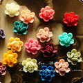 Free Shipping~14mm resin pendants,resin flower mix colors,resin cameo,vintage pendants,fashion DIY resin beads jewelry
