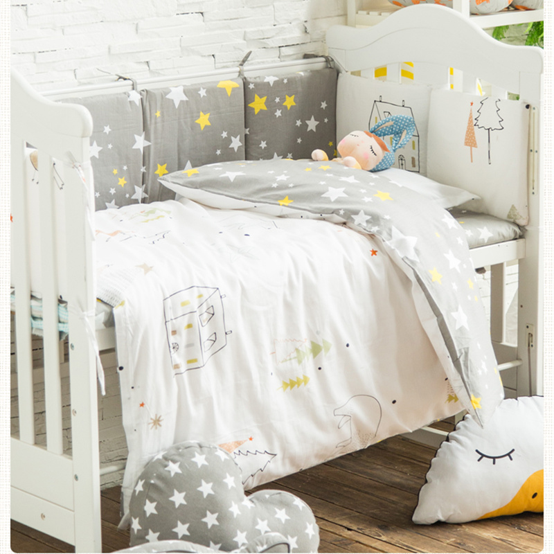 3 pcs set Bed Covers for Baby Crib Bedding Set Cotton Pillowcase Quilt Cover Bed Sheet
