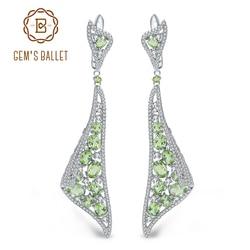 GEM'S BALLET 8.10Ct Natural Peridot Gemstone Drop Earrings 925 Sterling Silver Vintage Gothic Earrings  Fine Jewelry for Women