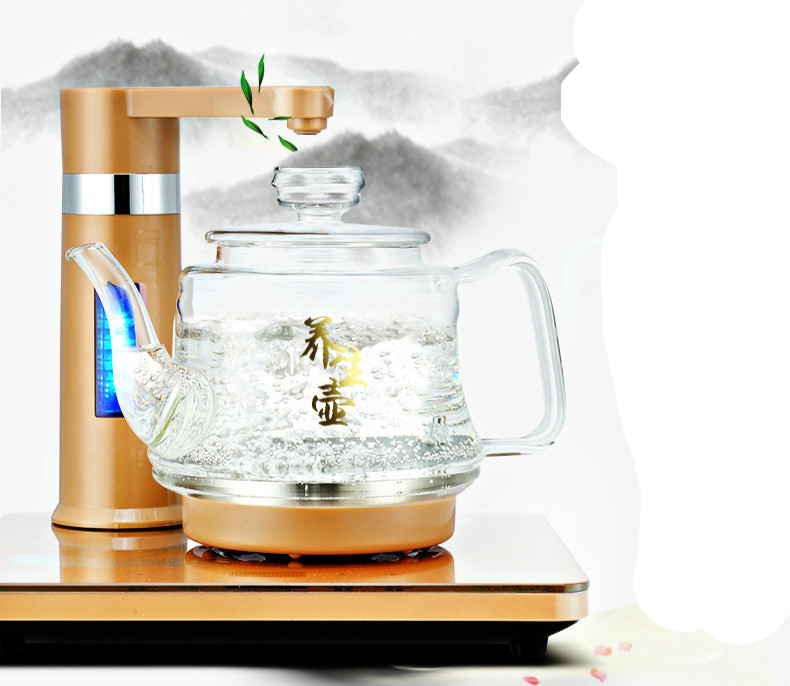 Electric kettle fully automatic water key intelligent pumping kettle Safety Auto-Off Function free shipping automatic water supply electric kettle tea set pumping furnace