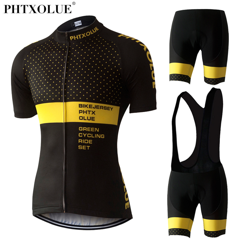 Phtxolue Cycling Set Women Mountain Bicycle Jersey Set Kit Maillot Ciclismo Cycling Clothing Wear QY0313