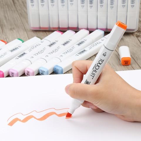 conjunto de desenho esboco marcador manga marcadores da