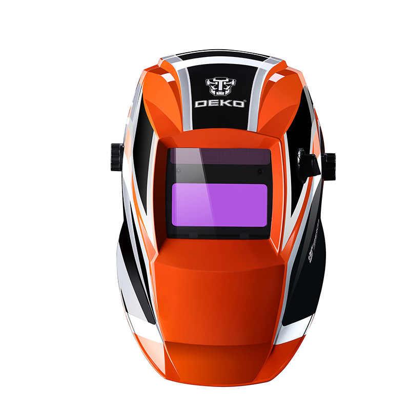 Deko laranja mega solar escurecimento automático mig mma máscara de solda elétrica/capacete/lente de soldagem para máquina de solda ou cortador plasma