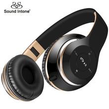 Звук интонировать Беспроводной Bluetooth наушники с микрофоном Поддержка TF карты FM Радио бас стерео гарнитуры наушники для iPhone Xiaomi PC