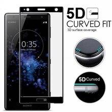 9H 5D Tempered Glass LCD Curved Full Screen Protective Film for Sony Xperia XZ3 XZ2 XZ1 C for XA XA1 XA2 XA3 Plus XA1 XA2 Ultra цена в Москве и Питере