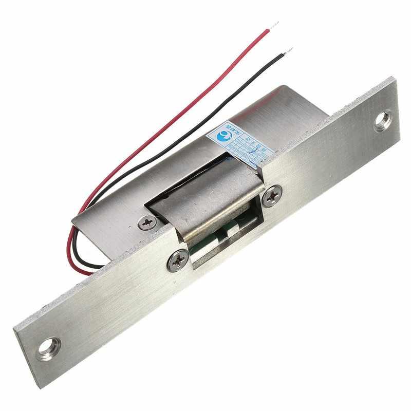 Roestvrij Deur 12 v DC Fail Safe GEEN Smalle type Deur Elektrische Strike Lock Voor Toegangscontrole Power Sloten beveiliging Veilig