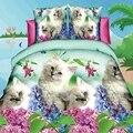 Домашняя версия  набор постельного белья twin queen  3d одеяло  пододеяльник  наволочка  набор с принтом животных  дышащее комфортное одеяло для в...