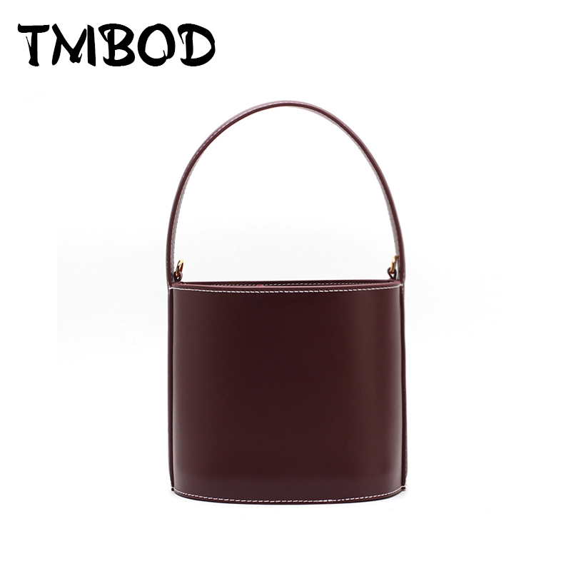 New 2018 Designer Classic Cute Tote Small Bucket Popular Women Split Leather Handbags Ladies Bag Messenger Bags For Female an845 2018 new classic bucket messenger bags popular tote lady split leather handbags women chains shoulder bags bolsas qn250