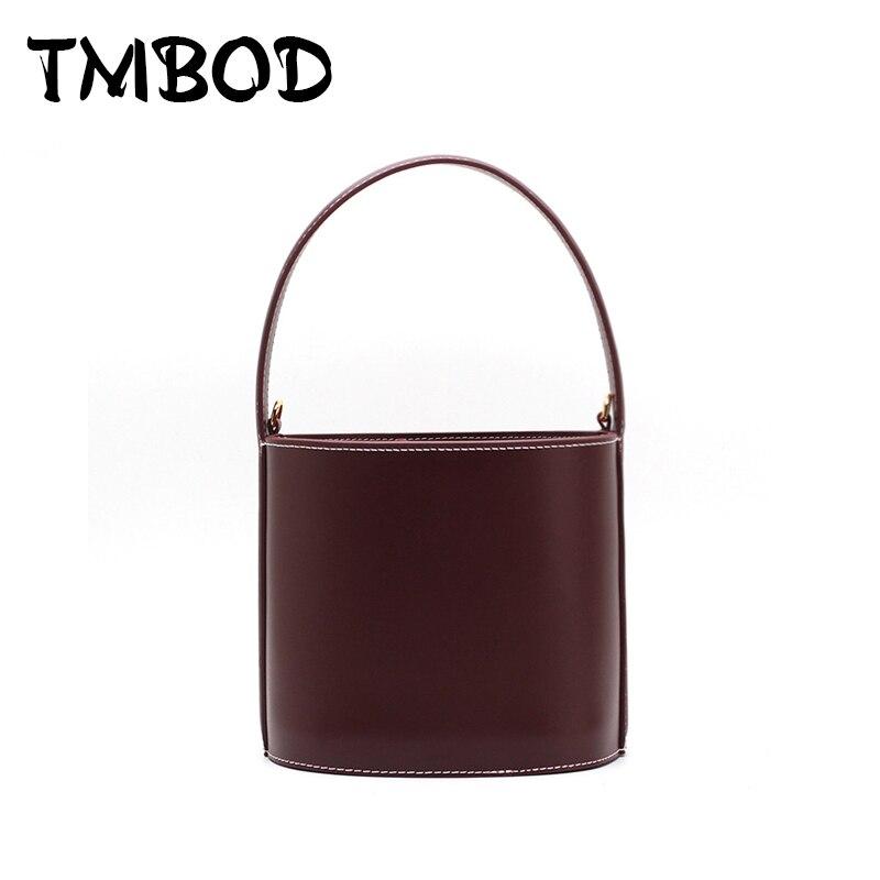 Nouveau 2019 Designer classique mignon fourre-tout petit seau populaire femmes Split cuir sacs à main dames sac Messenger sacs pour femme an845