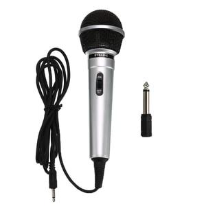 Image 1 - Universal 3.5mm Wired Microphone Protable Public Transmitter KTV Karaoke Recording Black Silver