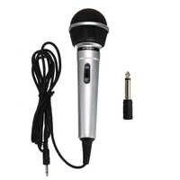 Universal 3,5mm Wired Mikrofon Protable Öffentlichen Sender KTV Karaoke Aufnahme Schwarz Silber