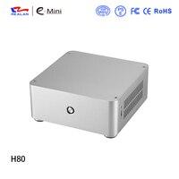 מקרה מחשב אלומיניום מקרה מחשב ITX מיני משחקי H80 Realan מארז ללא אספקת חשמל