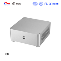 Realan H80 Mini ITX computer case Aluminum PC case Chassis for without power supply