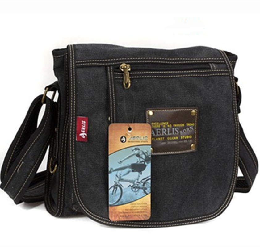 Canvas Man Messenger Bags Simple Male Shoulder bags Handbags Small Crossbody Bags For Wo ...