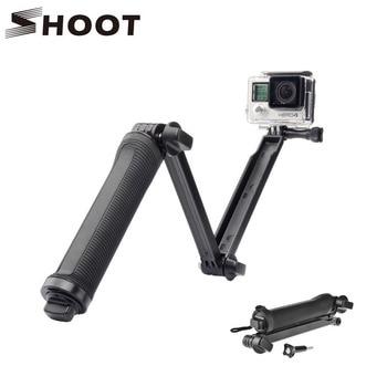 SHOOT 3 Way Waterproof Monopod Selfie Grip Tripod Mount For Gopro Hero 5 4 Session SJ4000 Xiaomi Yi 4K Camera acessorios Gopro