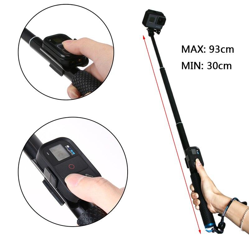 Selfie Sticks de mano Monopod para GoPro HERO 7 6 5 4 sesión xiaomi yi 4 k SJCAM sj4000 sj5000x EKEN Go pro accesorios de cámara