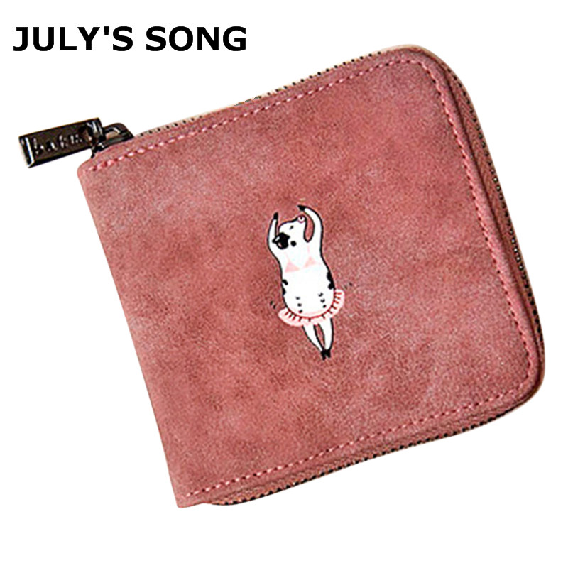New Fashion Women Animal Fox Cow Zebra Penguin Printing Wallet Female Good Quality Short P