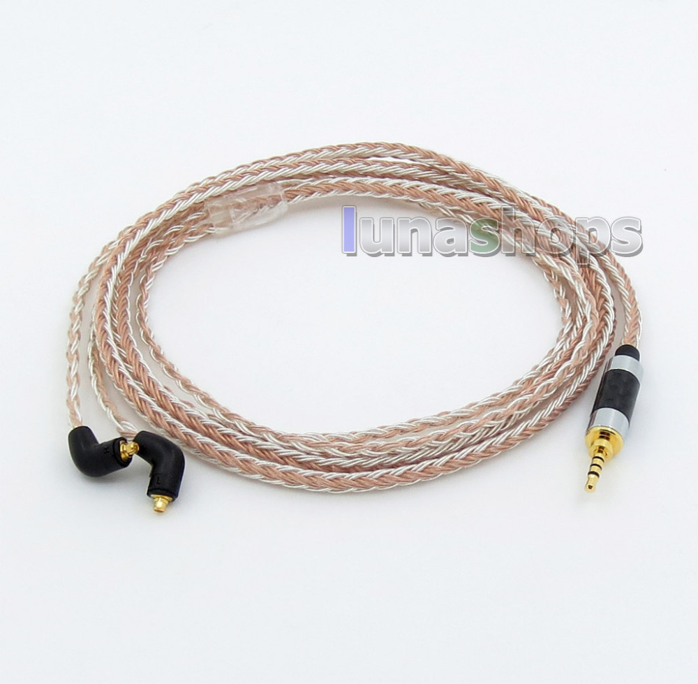 2.5mm 4pole TRRS Balanced 16 Core OCC Silver Mixed Headphone Cable For Etymotic ER4 XR SR ER4SR ER4XR LN005809 800 wires soft silver occ alloy teflo aft earphone cable for ultimate ears ue tf10 sf3 sf5 5eb 5pro triplefi 15vm ln005407