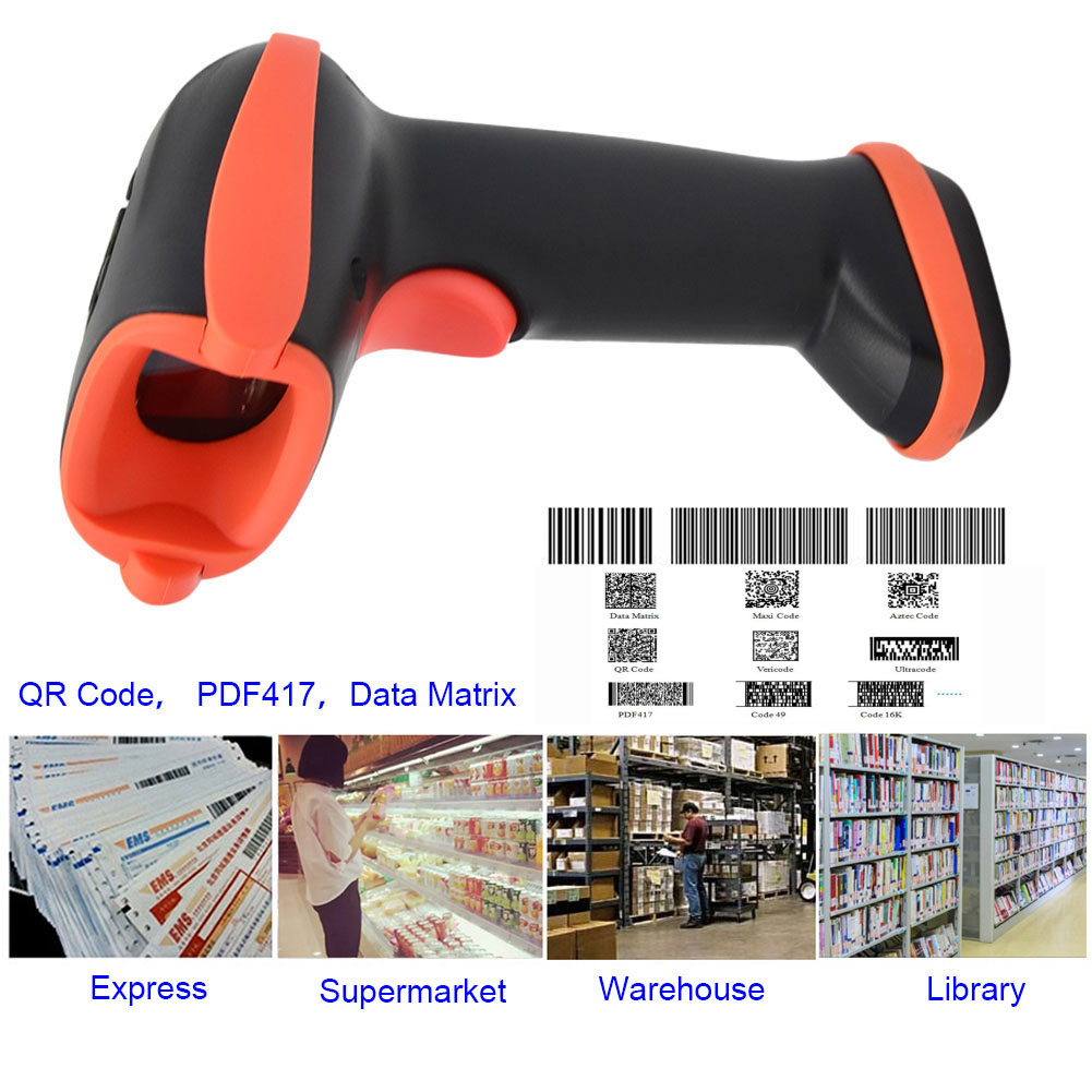 New Hot New Handheld Bluetooth Wireless USB Automatic Barcode Scanner Reader with USB Receiver for POS PC Laptop @88 new handheld bluetooth wireless usb automatic barcode scanner reader with usb receiver for pos pc laptop em88
