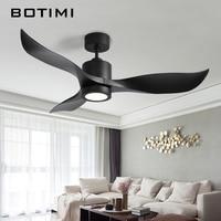 BOTIMI Инверторный двигатель 52 дюймов светодио дный светодиодный потолочный вентилятор современный вентилятор огни дистанционного охлажден