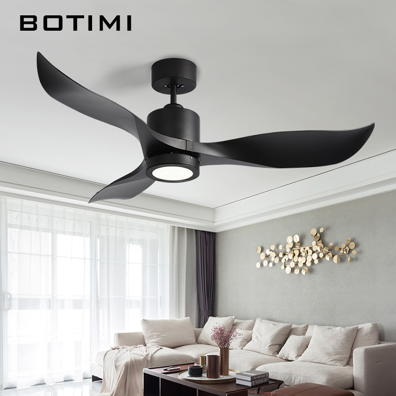 Botimi Inverter Motor 52 Inch Led Ceiling Fan Modern Lights Remote Cooling Fans Home Lighting Lamps Fixtures In From