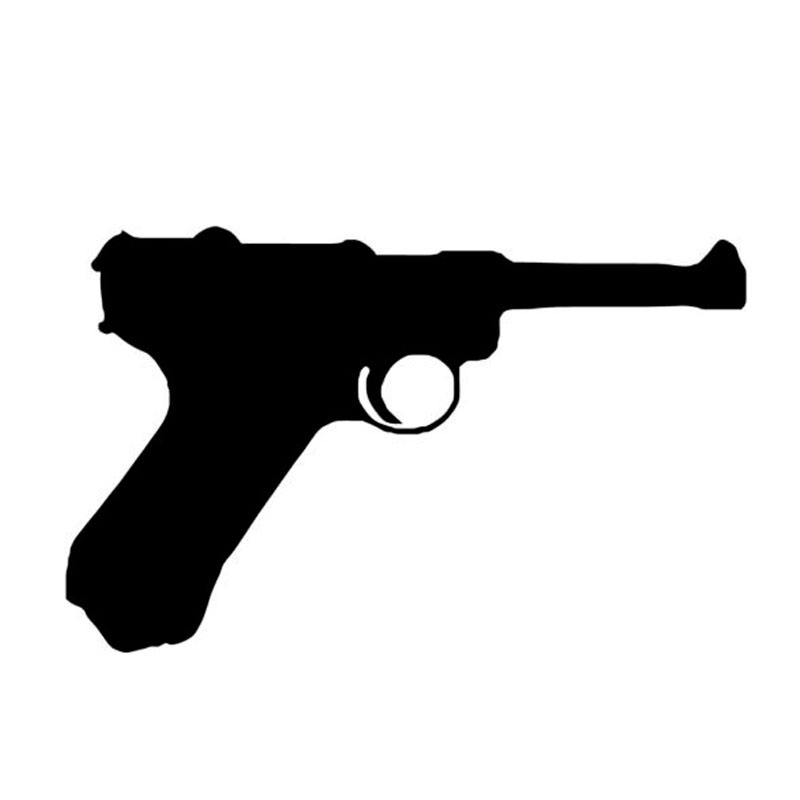 15*9.4CM Luger P08 German 9MM Car Sticker Decal Interesting Cartoon Motorcycle Stickers Car Styling Accessories C2-0393