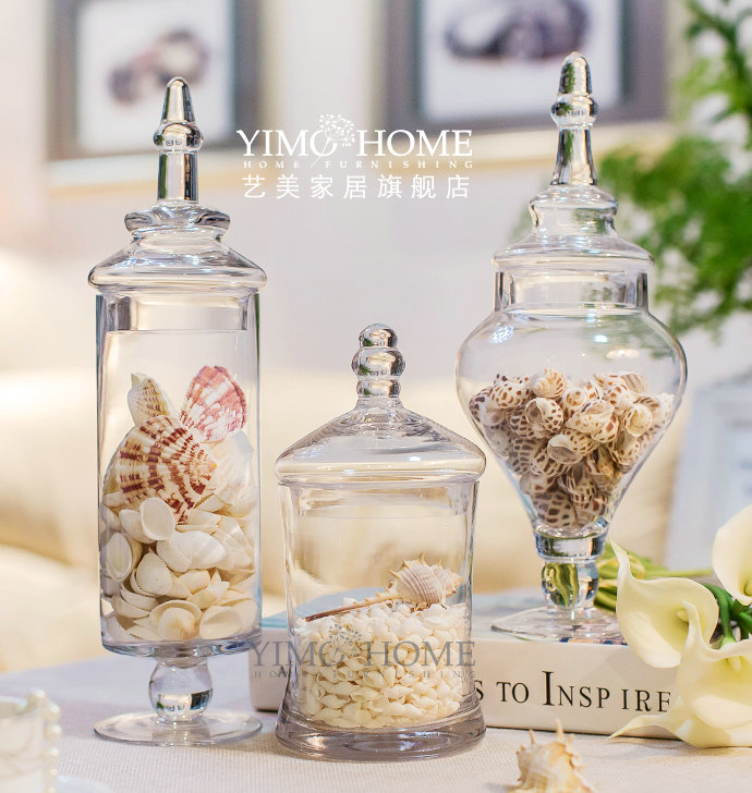 3pcs set large glass candy jar with glass lids buffet jar for sweets glass vases with lids for dessert glass jar storage jarin vases from home u0026 garden