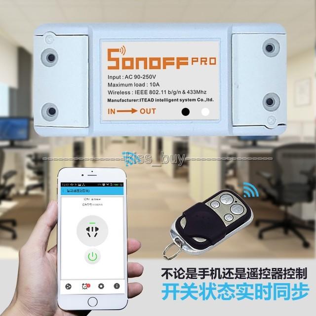 2018 vente directe Kit réel platine de prototypage Nodemcu 433 mhz Sonoff Rf-Wifi sans fil Smart Home Switch + télécommande récepteur Rf