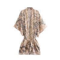 Boho Chic Summer Vintage Floral Print Sashes Cardigan Kimono Women 2019 Fashion V Neck Loose Beach Blouses Shirts Femme Blusas