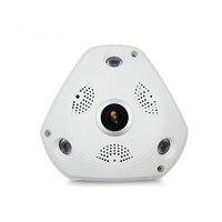 Wi fi IP широкий формат VR камера беспроводной 5MP HD Smart 360 градусов Fishey панорамный сеть видеонаблюдения дома Cam
