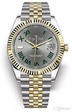 Marca de luxo Novo Relógio Mecânico Automático Homens 41 milímetros de Safira de Aço Inoxidável Prata Ouro Verde Presidente Datejust Relógios AAA +