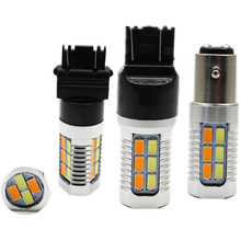 LED lamp 2x t20 7443 T25 3157 W21W 5630 22SMD LED dual Switchback For Turn Signal Brake Backup DRL Lights Reverse Parking bulbs 2pcs high power 3157 dual color white amber switchback 28 smd led turn signal brake backup bulbs free shipping