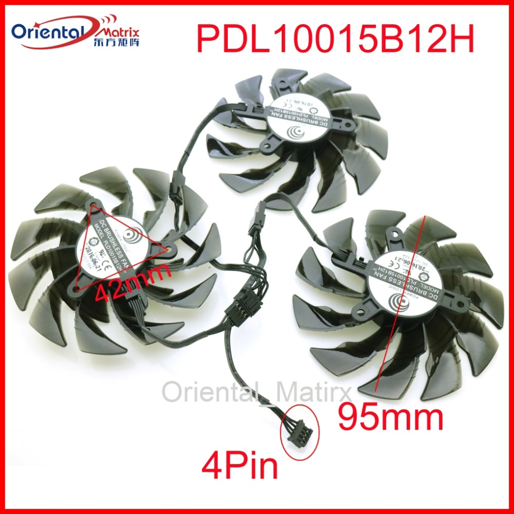PLD10015B12H 12V 0.55A 95mm GPU Fan For Gigabyte GTX1080TI RTX2060 RTX2070 RTX2080 AORUS Super Graphics Card Cooling Fan 4Pin image