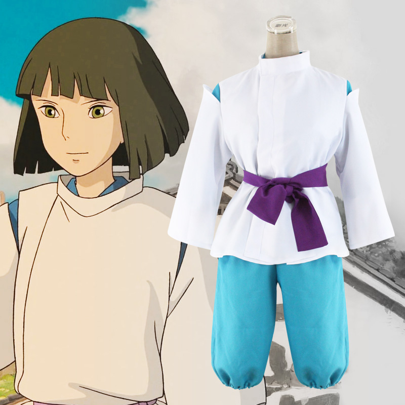 Milky Way Anime Movie Spirited Away Nigihayami Kohakunushi Miyazaki Hayao Costume White Dragon Haku Kimono Cosplay Costume