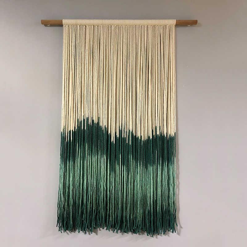 16d8bcb13df9 80x50 cm macramé tejido para colgar en la pared tapiz tejido hecho a mano  pancarta Tapisserie artesanía hogar dormitorio bohemio decoración textil