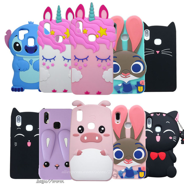 new style 11a04 cb99c US $3.26 15% OFF|For Vivo V9 Case Vivo Y85 case 3D Cartoon Rabbit Back  Cover Case for vivo v9 silicon cover cases 6.3