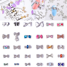 30 Styles Fancy Metal Charms Bow Tie Serie Deco Nail Art Decoration Cellphone 100Pcs Alloy Charm