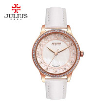 New Lady Woman Julius Wrist Watch Quartz Hours Best Fashion Dress Bracelet Girl Birthday Gift Leather