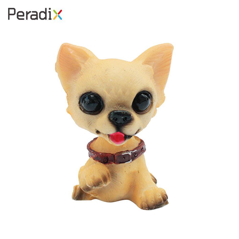 Resin Dog Shake Head Dog Action Figure Birthday Present Funny 6pcs Resin Spring Funny Animals Car Decor Dog